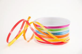 Roll with colorful ribbons