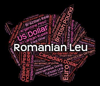 Romanian Leu Shows Worldwide Trading And Currency