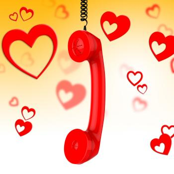 Romantic Call Represents Conversation Fondness And Discussion