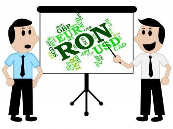 Ron Currency Shows Forex Trading And Currencies