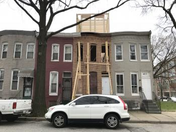 Rooftop addition and rowhouse rehabilitation, 409 E. Federal Street, Baltimore, MD 21202