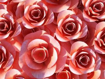 Roses Background Shows Valentines Petals And Valentine