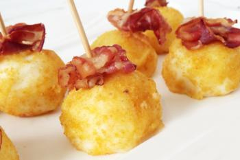 Round Food With Bacon