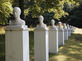 Row of heads