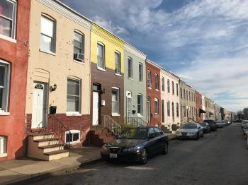 Rowhouses, 2800 block Miles Avenue (northeast side), Baltimore, MD 21211