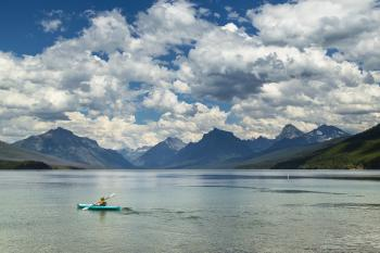 Rowing in Lake Mcdonald