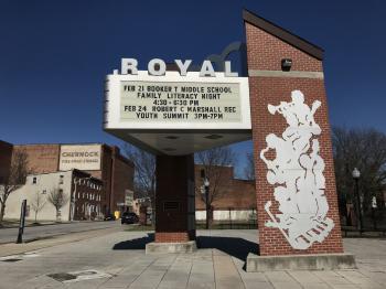 Royal Theatre Marquee Plaza, 1329 Pennsylvania Avenue, Baltimore, MD 21217
