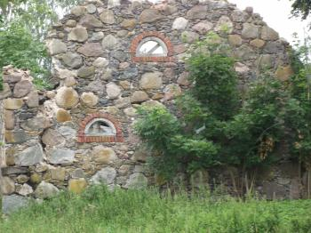 Ruins of an old stone house