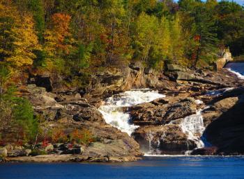 Rumford Falls in Autumn