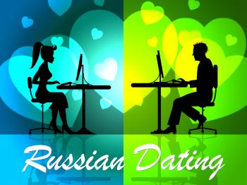 Russian Dating Represents Partner Relationship And Romance