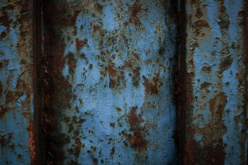 Rusted Blue Metal Texture