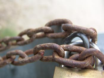 Rusted chain and lock