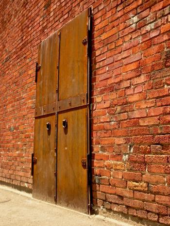 Rusted Iron Door