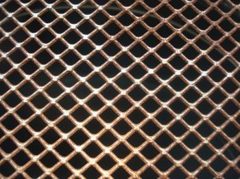 Rusted metal grid texture