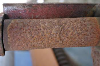 Rusted metal pipe