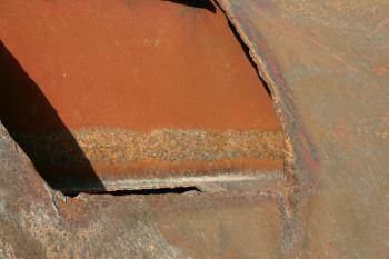 Rusted metal plates