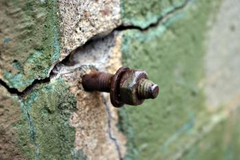 Rusted steel bolt