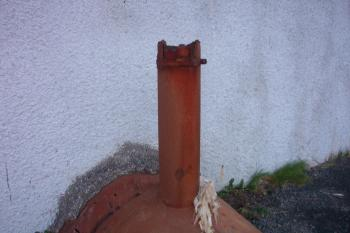 Rusted steel pipe