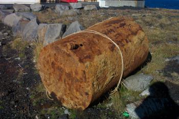 Rusted steel tank