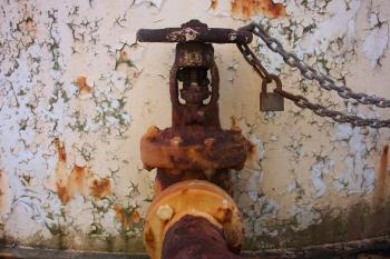 Rusted steel tap