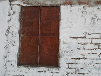 Rusted window panel