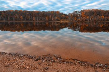 Rustic Autumn Lake