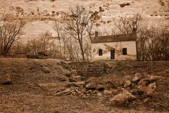 Rustic Lockhouse Mural