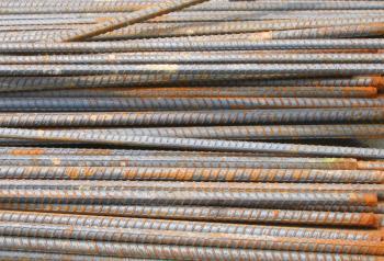 Rusty Iron Bars Stack