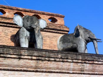 Sacred Elephant Sculptures