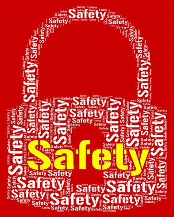 Safety Lock Represents Protect Caution And Care