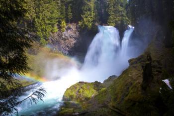 Sahalie Falls, Oregon, Spring