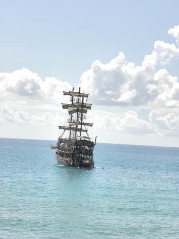 Sailing ship in Mediterranea