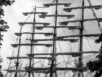 Sailing ships sails