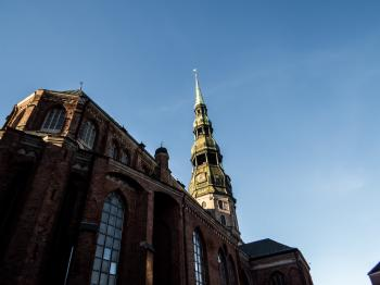 Saint peter church in Riga