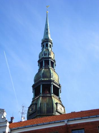 Saint peter's church of Riga