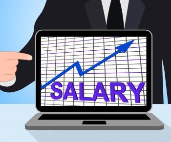 Salary Chart Graph Displays Increase Earn Cash Wealth Revenue