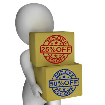 Sale Boxes Show 25 Reduced Price