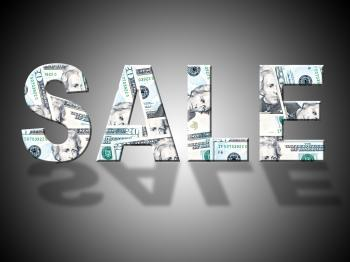 Sale Dollars Indicates American Closeout And Reduction