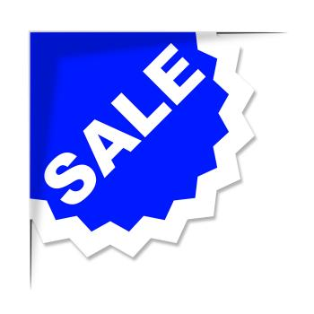 Sale Label Means Promo Save And Offer