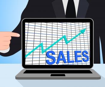 Sales Chart Graph Displays Increasing Profits Trade