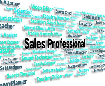Sales Professional Shows Expertise Selling And Promotion