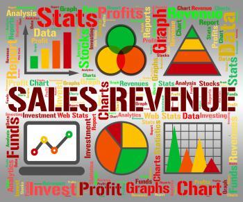 Sales Revenue Represents Profits Rebate And Save