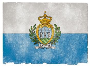 San Marino Grunge Flag