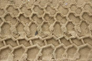 Sand tire track