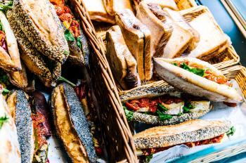 Sandwich in Basket