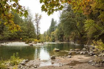 Santiam River at Cleator Bend, Oregon