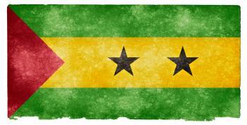 Sao Tome and Principe Grunge Flag
