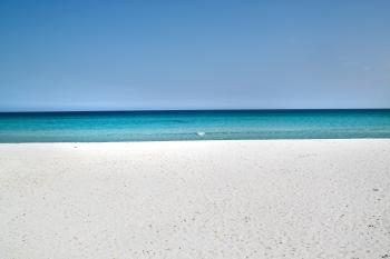 Sardinia sandy beach and blue sea