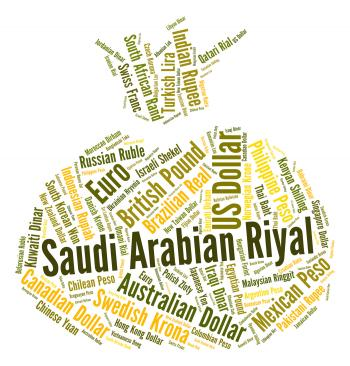 Saudi Arabian Riyal Indicates Forex Trading And Coinage