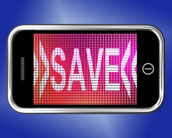Save Message On Mobile Phone Shows Promotion